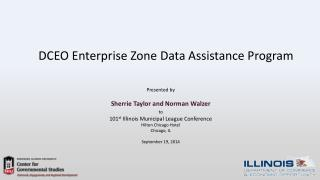 DCEO Enterprise Zone Data Assistance Program