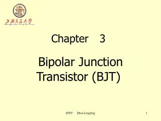 Chapter	3 Bipolar Junction Transistor (BJT)