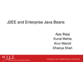 J2EE and Enterprise Java Beans