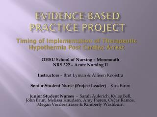 Evidence-Based Practice Project
