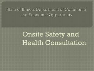 State of Illinois Department of Commerce and Economic Opportunity