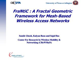 FraNtiC : A Fractal Geometric  Framework for Mesh-Based Wireless Access Networks