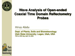Wave Analysis of Open-ended Coaxial Time Domain Reflectometry Probes