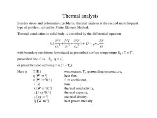 Thermal analysis