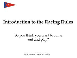 Introduction to the Racing Rules