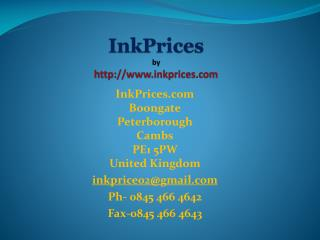 Printer inks comparison