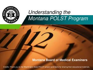 Understanding the  Montana POLST Program