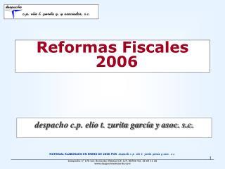 Reformas Fiscales 2006