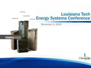 Louisiana Tech  Energy Systems Conference