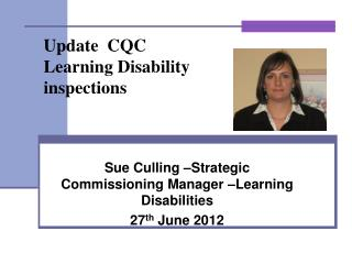 Update  CQC Learning Disability  inspections
