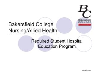 Bakersfield College Nursing/Allied Health