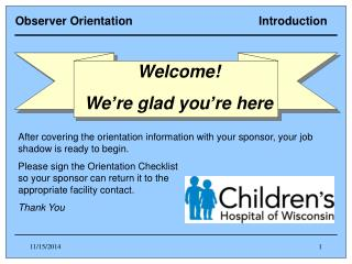 Observer Orientation                                       Introduction