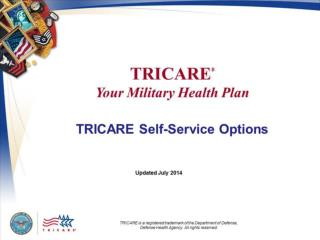 TRICARE  Your Military Health Plan: TRICARE Self-Service Options
