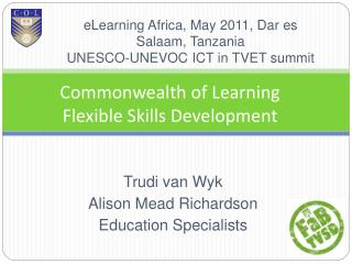 Commonwealth of Learning Flexible Skills Development