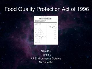Food Quality Protection Act of 1996