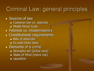 Criminal Law: general principles