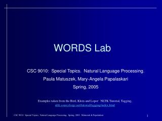 WORDS Lab