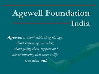 Agewell Foundation India