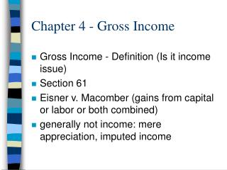 Chapter 4 - Gross Income