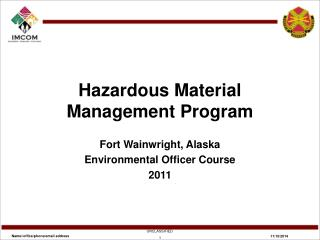 Hazardous Material Management Program