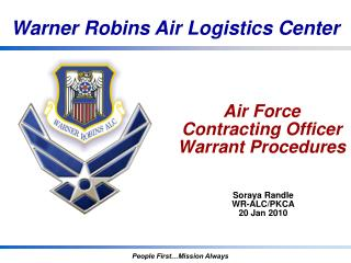 Air Force Contracting Officer Warrant Procedures