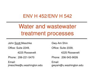 Water and wastewater treatment processes