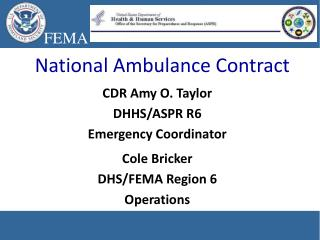 National Ambulance Contract