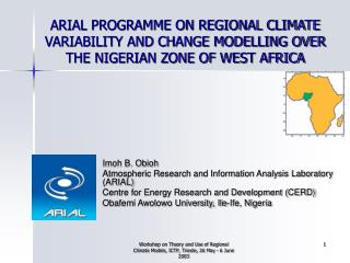Imoh B. Obioh Atmospheric Research and Information Analysis Laboratory (ARIAL)