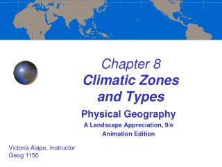 Chapter 8  Climatic Zones  and Types