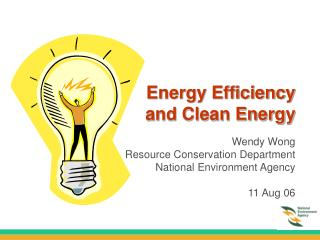 Energy Efficiency  and Clean Energy