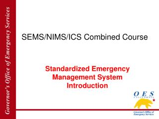 SEMS/NIMS/ICS Combined Course