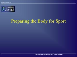 Preparing the Body for Sport