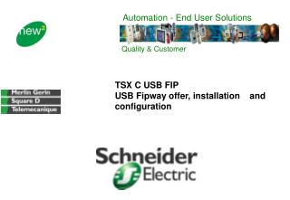 TSX C USB FIP  USB Fipway offer, installation    and configuration