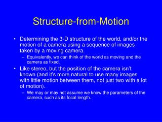Structure-from-Motion