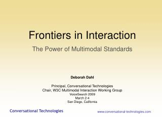 Frontiers in Interaction