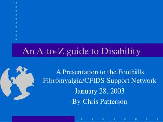 An A-to-Z guide to Disability