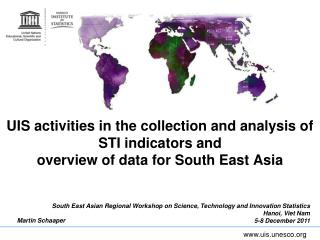 South East Asian Regional Workshop on Science, Technology and Innovation Statistics