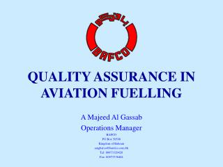 QUALITY ASSURANCE IN AVIATION FUELLING