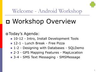 Welcome - Android Workshop