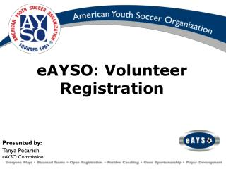 eAYSO: Volunteer Registration