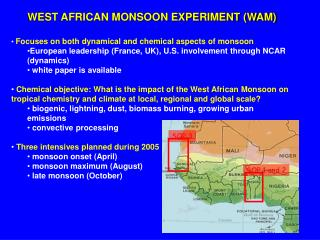 WEST AFRICAN MONSOON EXPERIMENT (WAM)