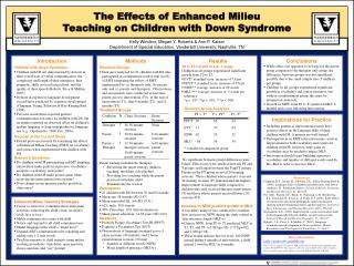 The Effects of Enhanced Milieu  Teaching on Children with Down Syndrome