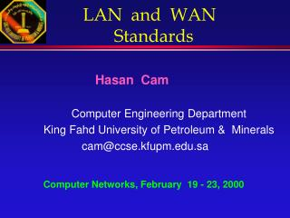 LAN  and  WAN   Standards