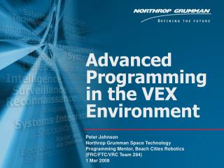 Advanced Programming in the VEX Environment