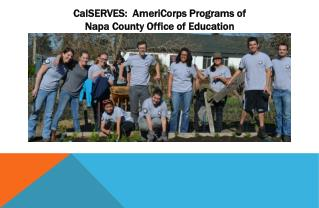 CalSERVES:  AmeriCorps Programs of Napa County Office of Education