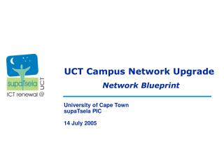 UCT Campus Network Upgrade
