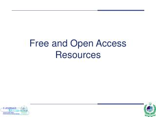 Free and Open Access Resources