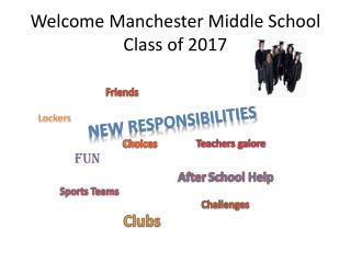 Welcome Manchester Middle School Class of 2017