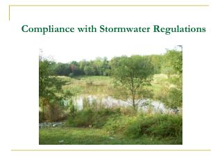 Compliance with Stormwater Regulations