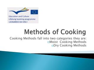Methods of Cooking